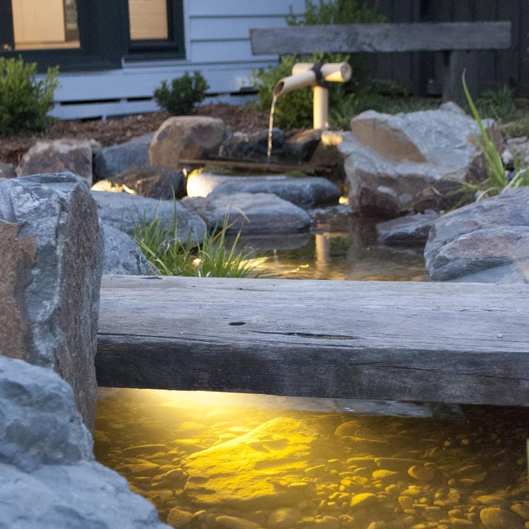 Japanese garden stream in Footscray