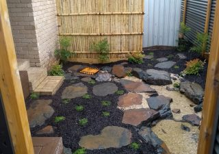Japanese courtyard stream