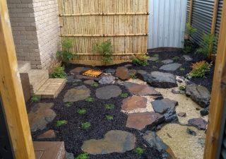 Japanese courtyard stream